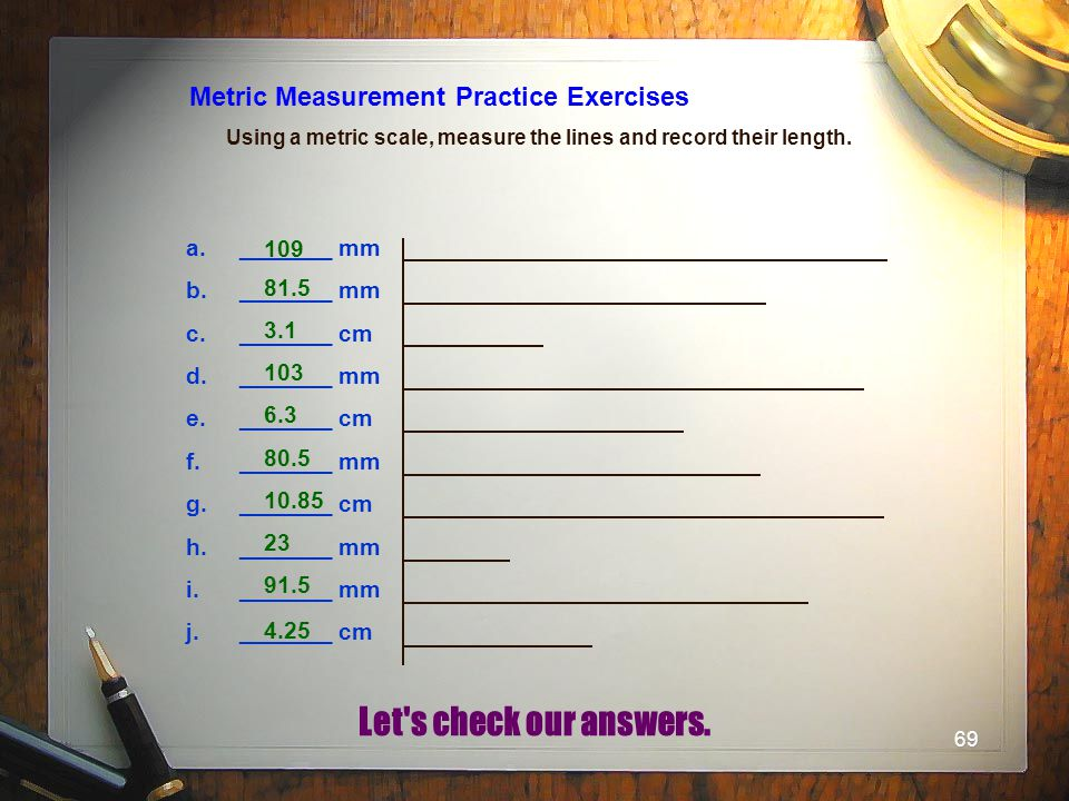 Metric Measurement Practice Exercises