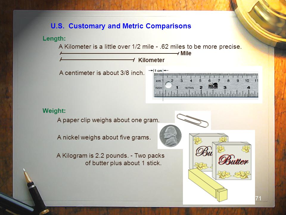 U.S. Customary and Metric Comparisons