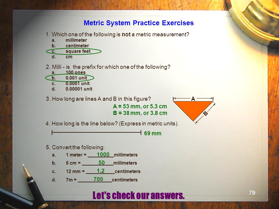Metric System Practice Exercises