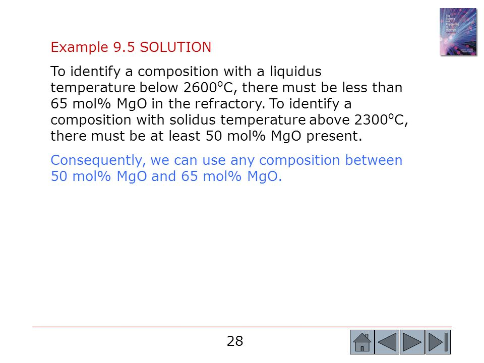 Example 9.5 SOLUTION