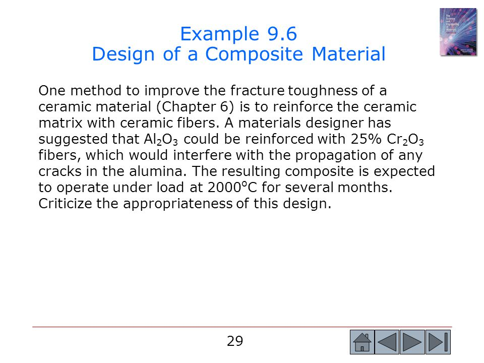 Example 9.6 Design of a Composite Material