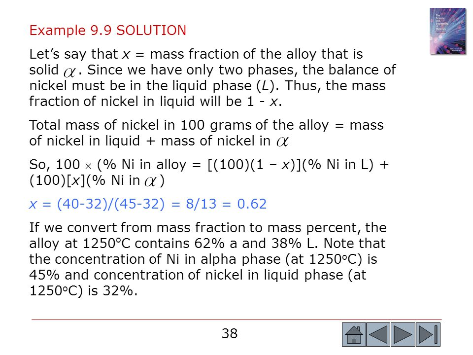 Example 9.9 SOLUTION