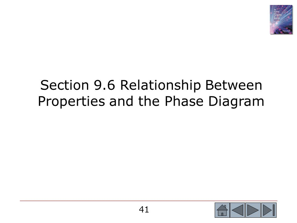 Section 9.6 Relationship Between Properties and the Phase Diagram