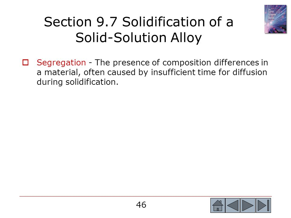 Section 9.7 Solidification of a Solid-Solution Alloy