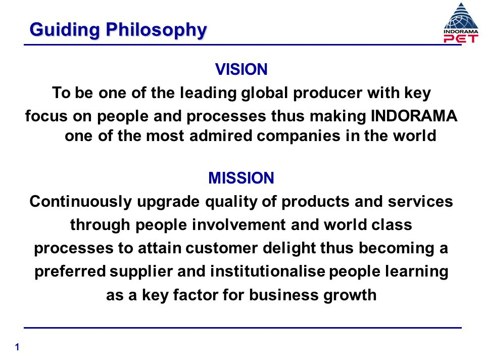 Guiding Philosophy VISION