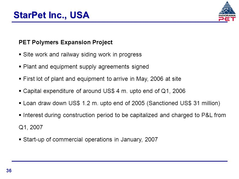 StarPet Inc., USA PET Polymers Expansion Project