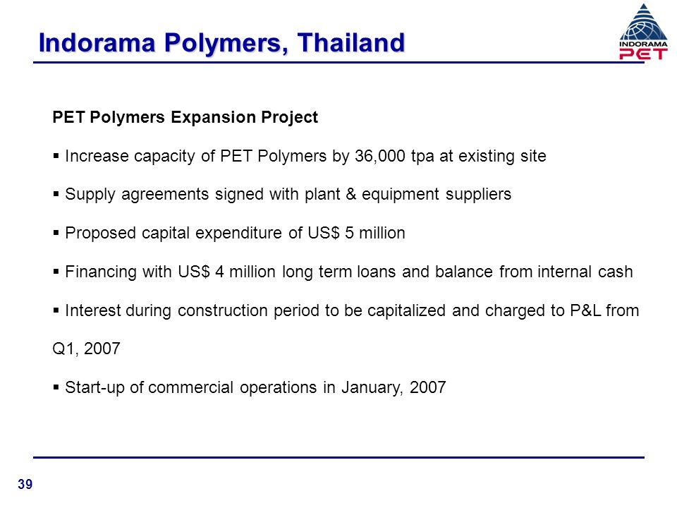 Indorama Polymers, Thailand