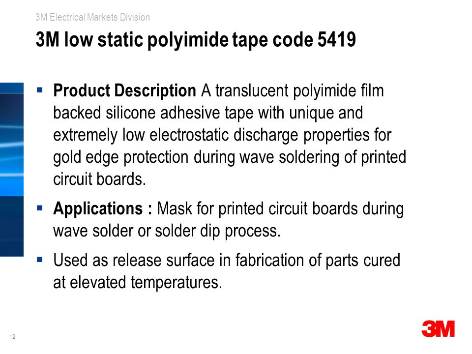 3M low static polyimide tape code 5419