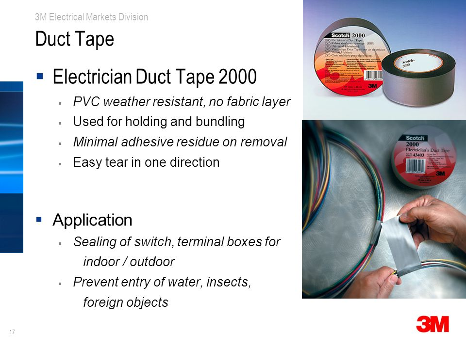 Duct Tape Electrician Duct Tape 2000 Application
