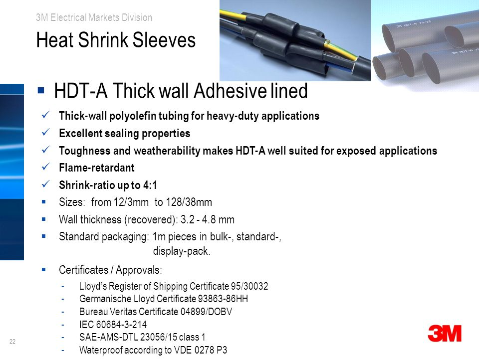 HDT-A Thick wall Adhesive lined