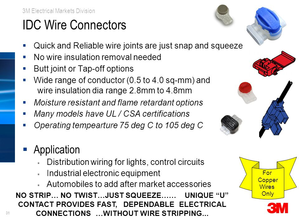 IDC Wire Connectors Application