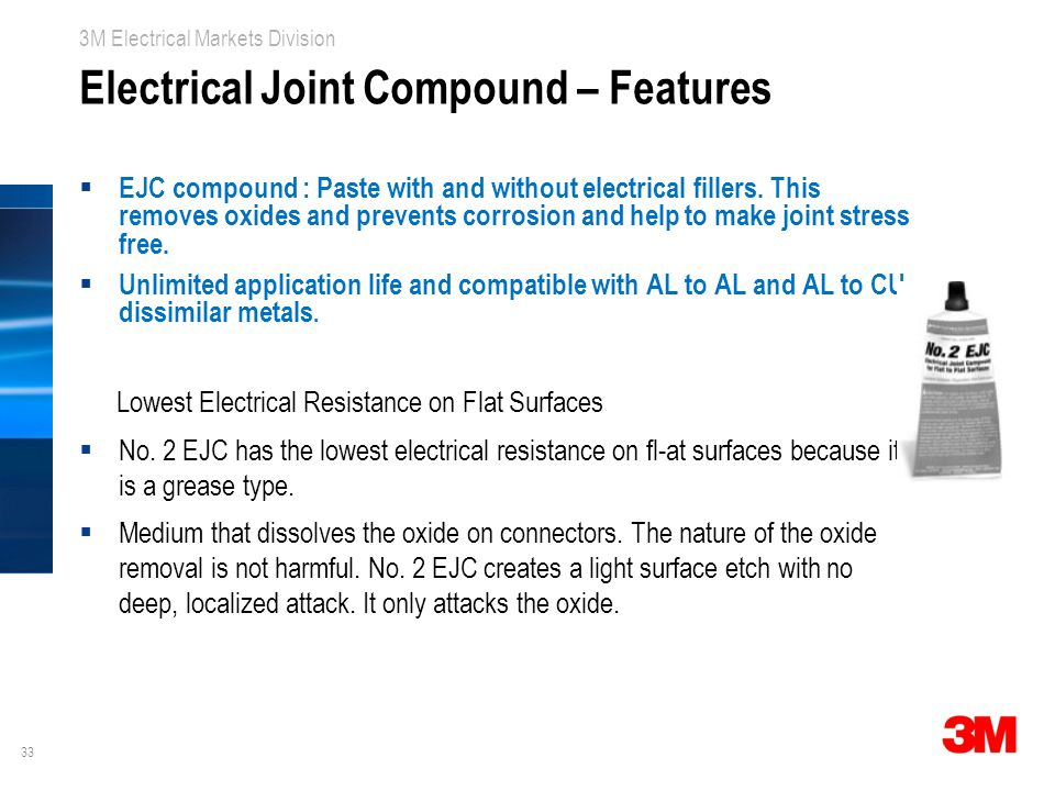 Electrical Joint Compound – Features
