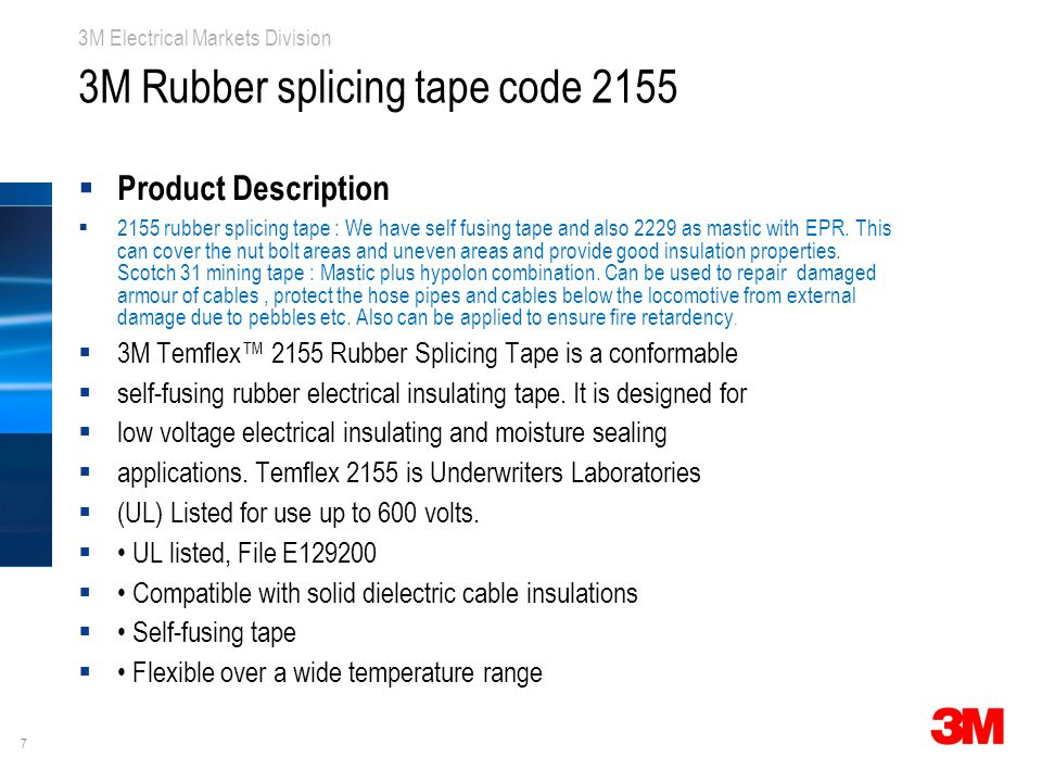 3M Rubber splicing tape code 2155