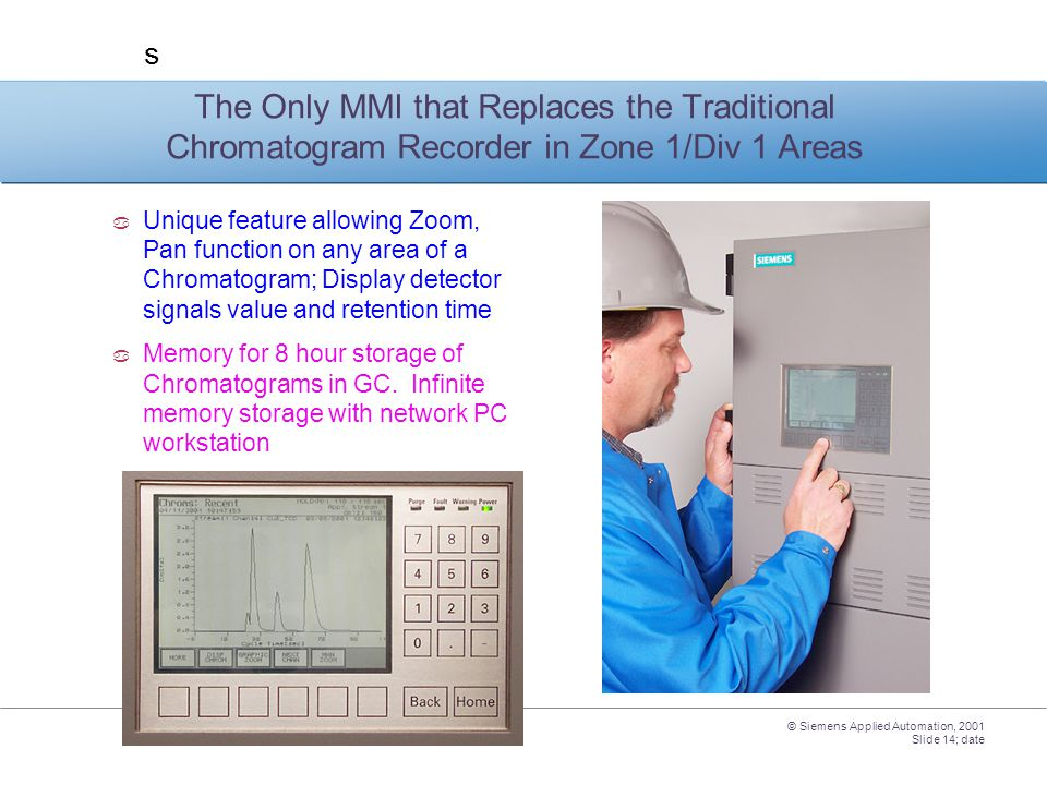 The Only MMI that Replaces the Traditional Chromatogram Recorder in Zone 1/Div 1 Areas