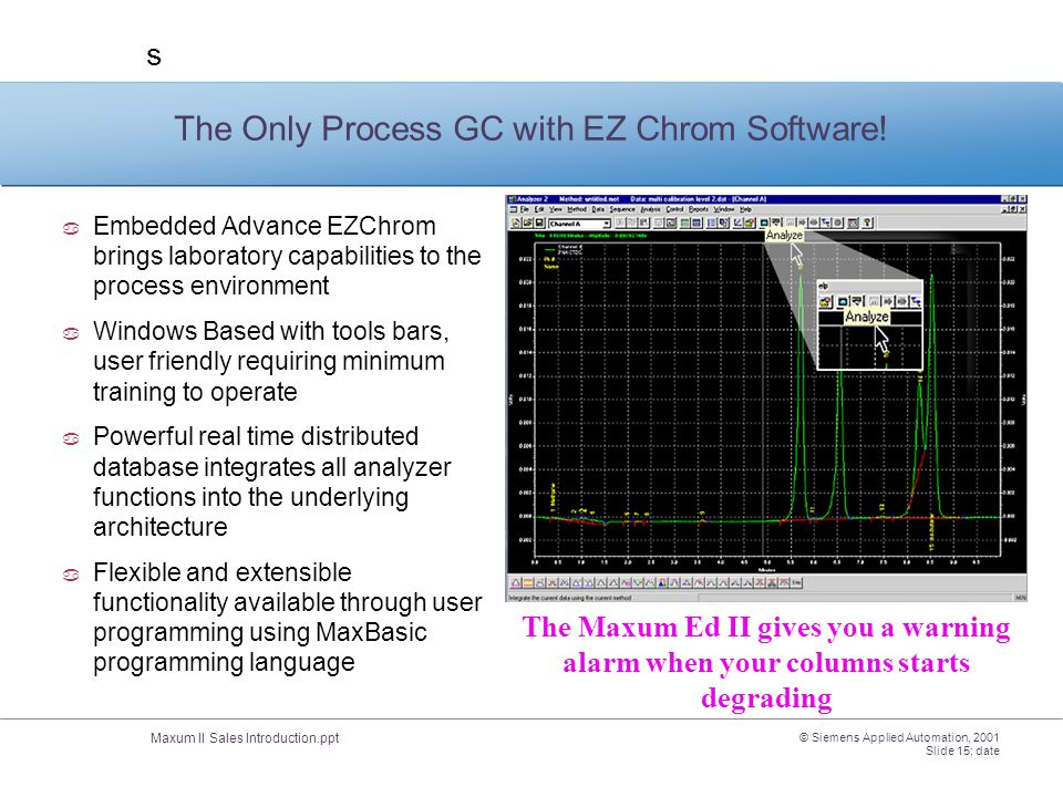 The Only Process GC with EZ Chrom Software!