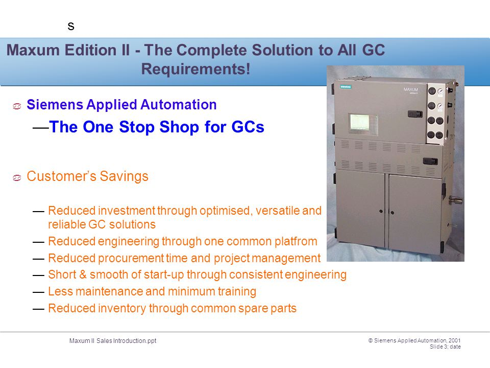 Maxum Edition II - The Complete Solution to All GC Requirements!