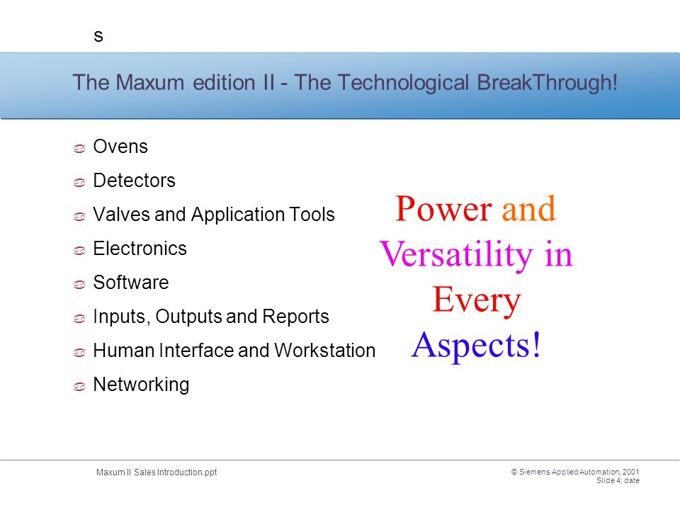 The Maxum edition II - The Technological BreakThrough!