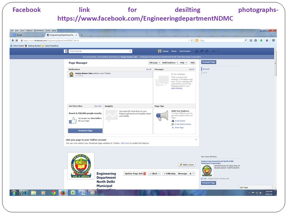 Facebook link for desilting photographs- https://www. facebook
