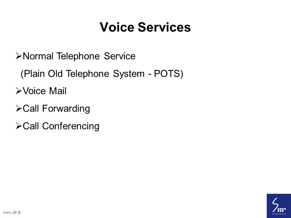 Voice Services Normal Telephone Service