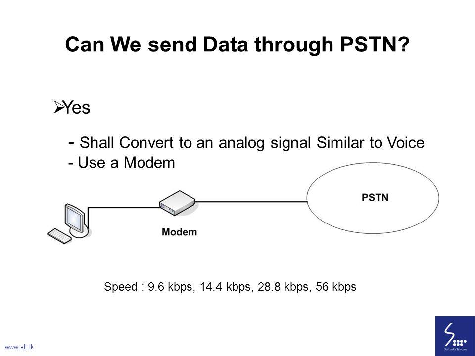 Can We send Data through PSTN