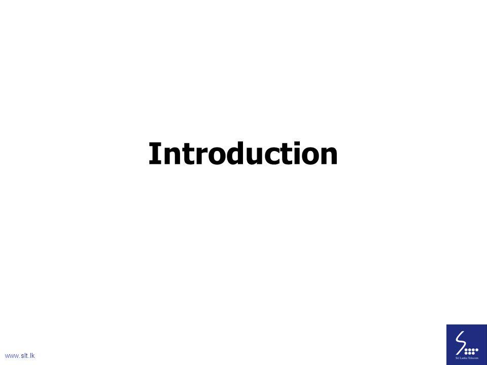 Introduction www.slt.lk