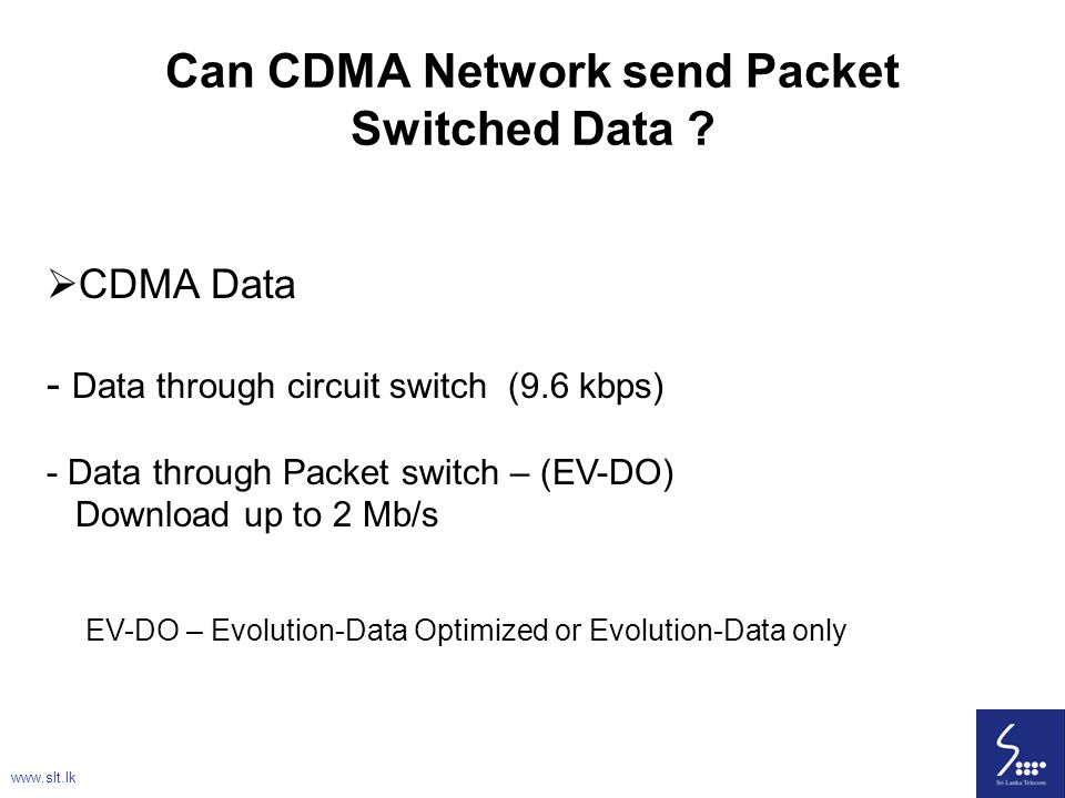 Can CDMA Network send Packet Switched Data