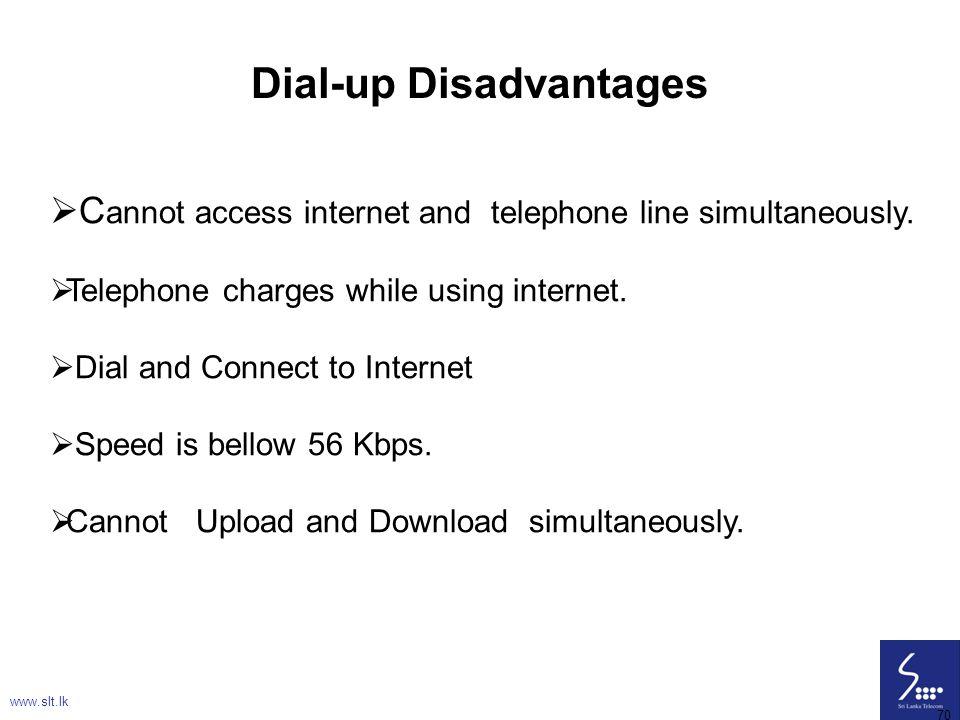 Dial-up Disadvantages
