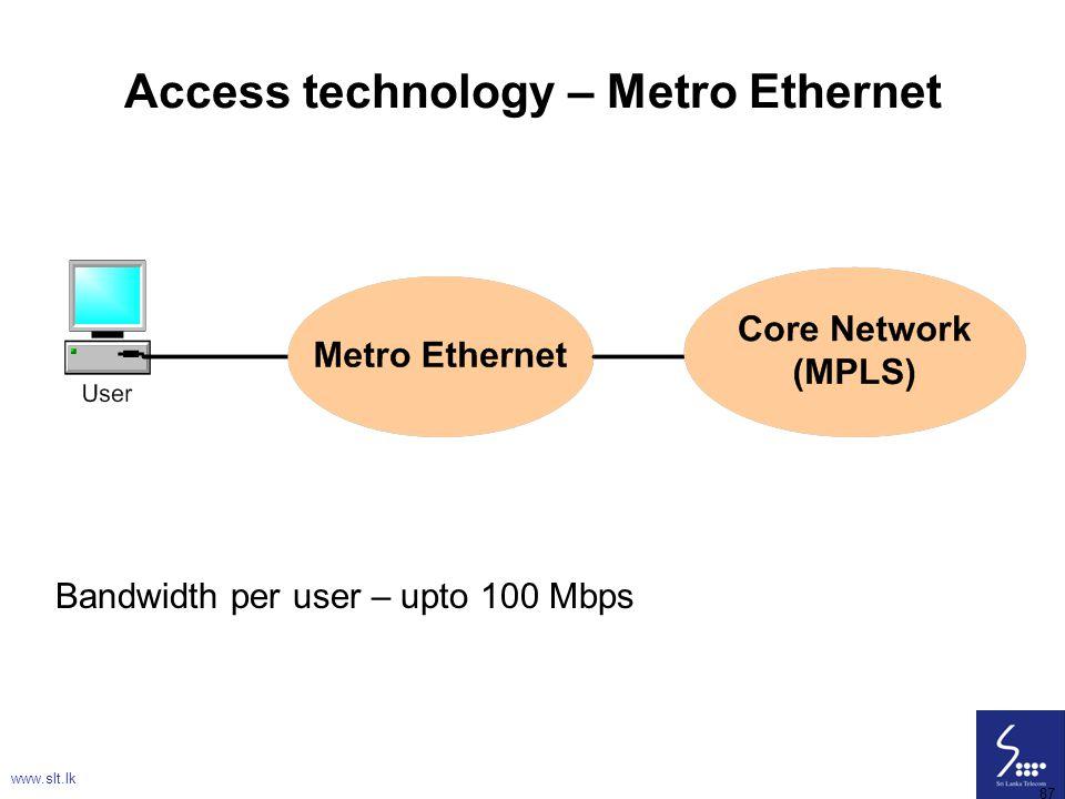 Access technology – Metro Ethernet