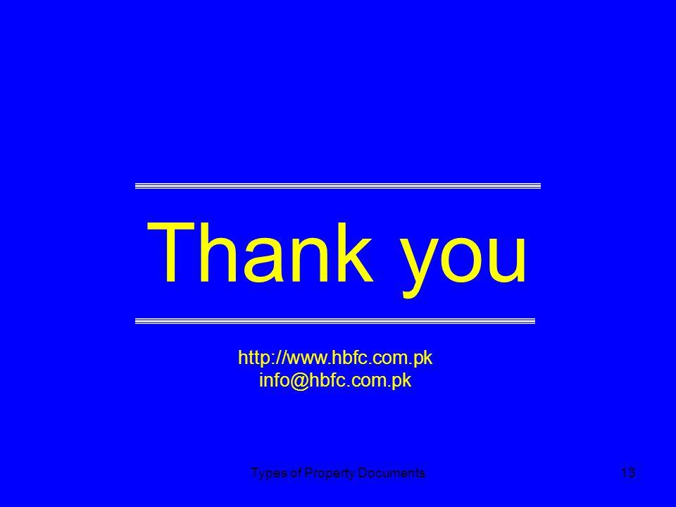 Thank you http://www.hbfc.com.pk info@hbfc.com.pk