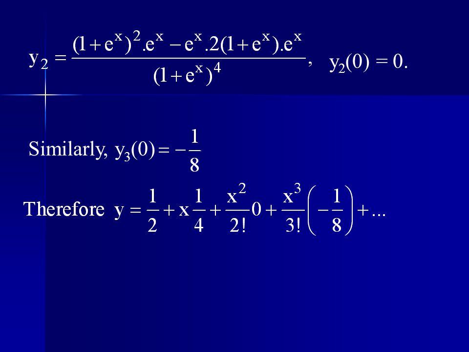 y2(0) = 0. Similarly, y3(0)
