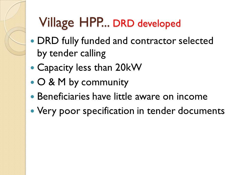 Village HPP... DRD developed