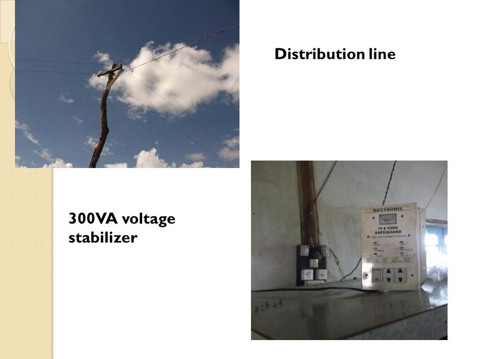 Distribution line 300VA voltage stabilizer