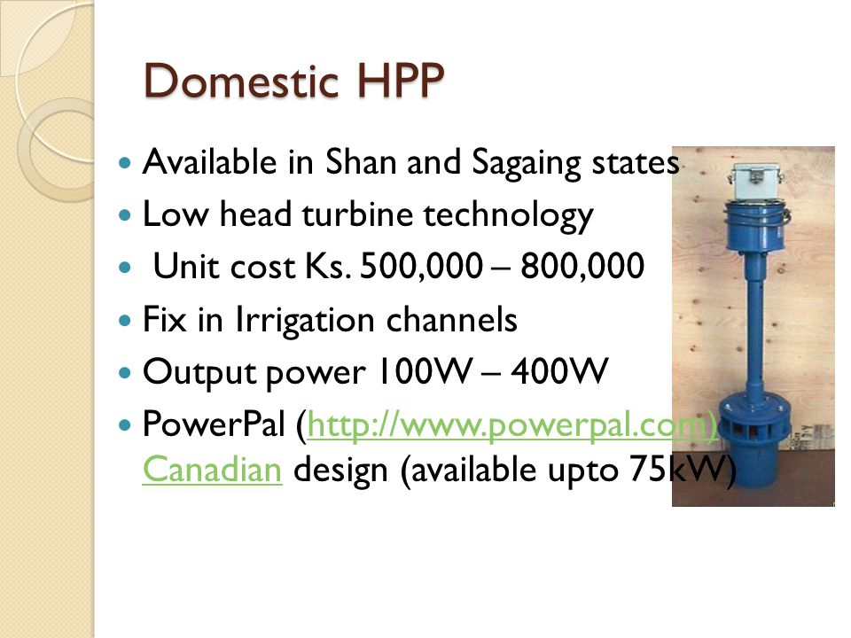 Domestic HPP Available in Shan and Sagaing states