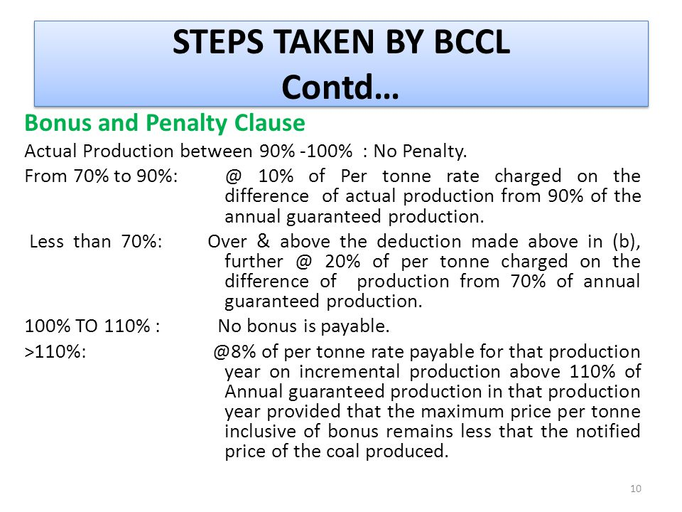 STEPS TAKEN BY BCCL Contd…