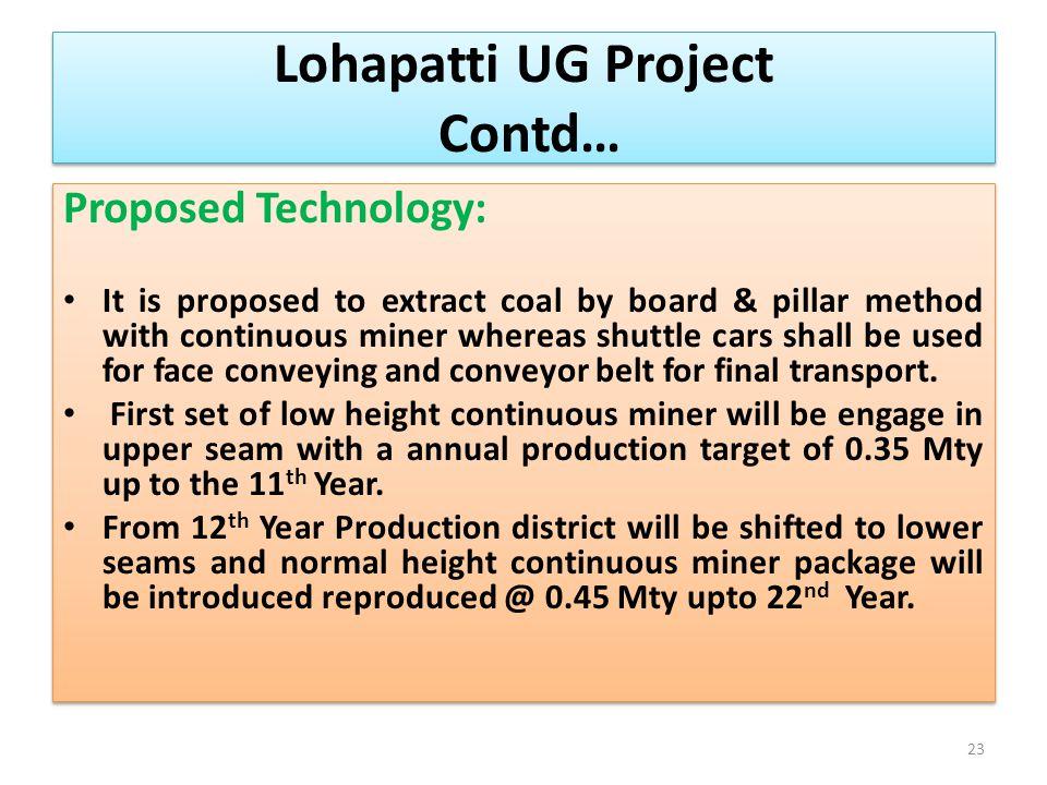 Lohapatti UG Project Contd…