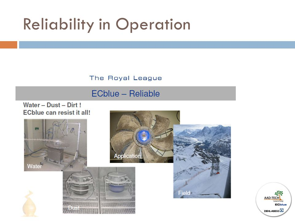 Reliability in Operation