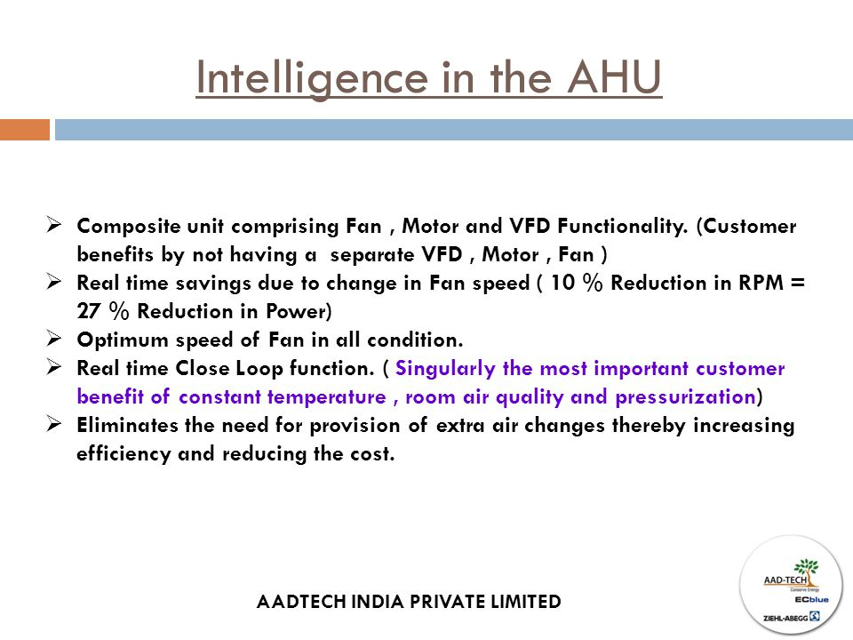 Intelligence in the AHU