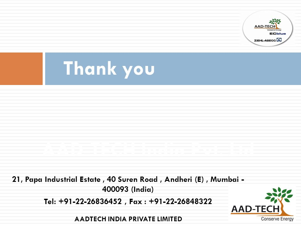 AADTECH INDIA PRIVATE LIMITED