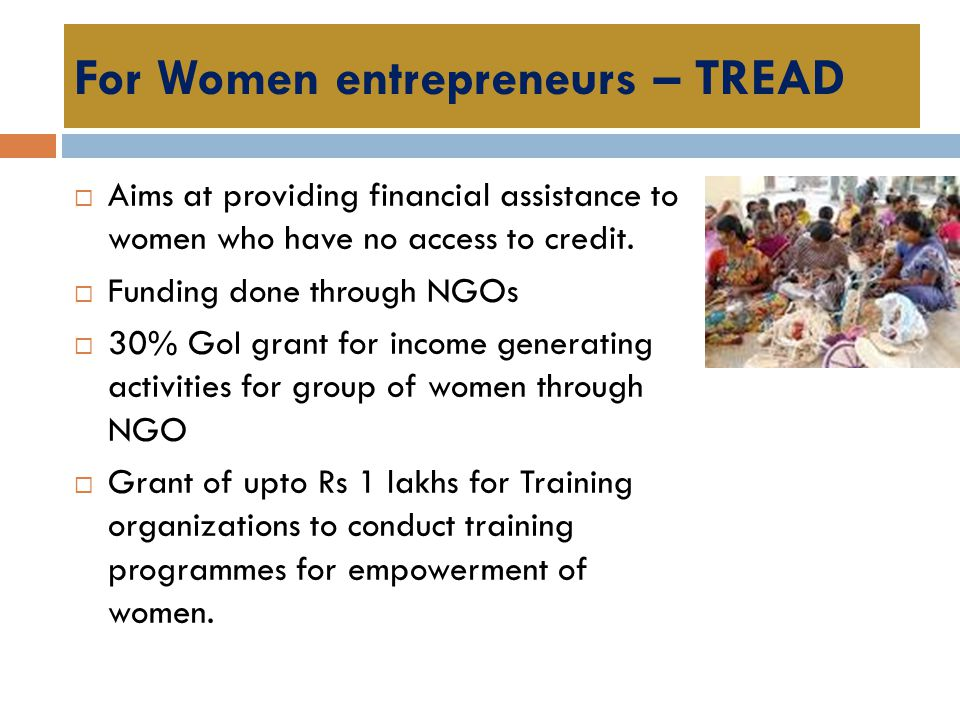For Women entrepreneurs – TREAD