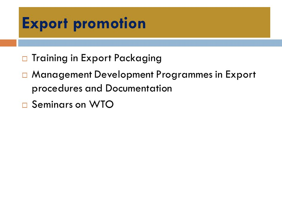 Export promotion Training in Export Packaging