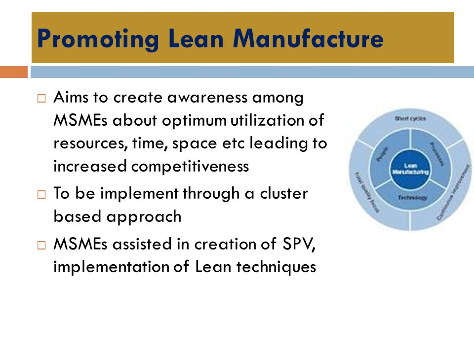Promoting Lean Manufacture