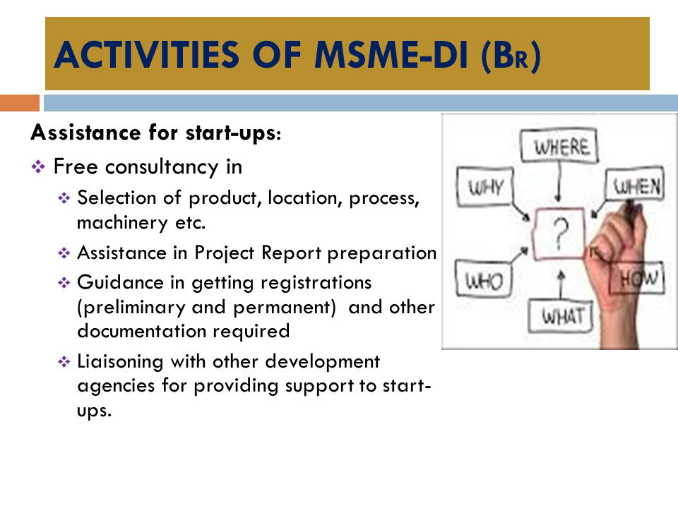 ACTIVITIES OF MSME-DI (BR)