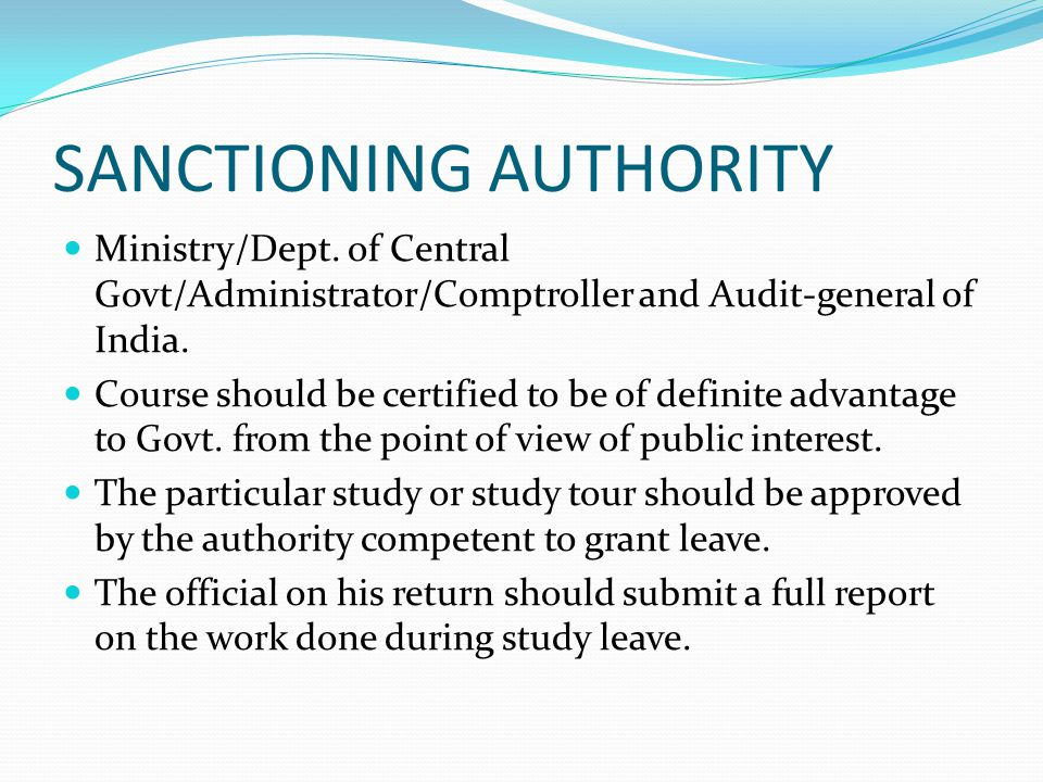 SANCTIONING AUTHORITY
