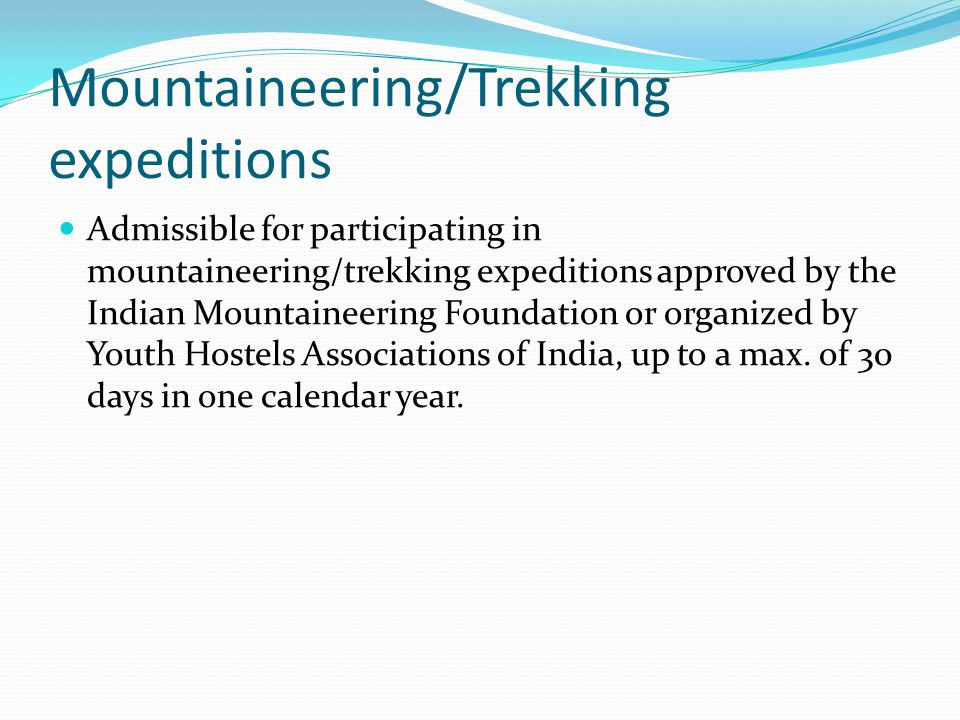 Mountaineering/Trekking expeditions