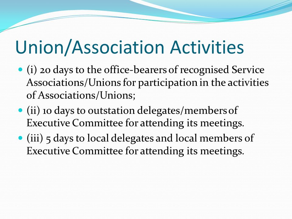 Union/Association Activities