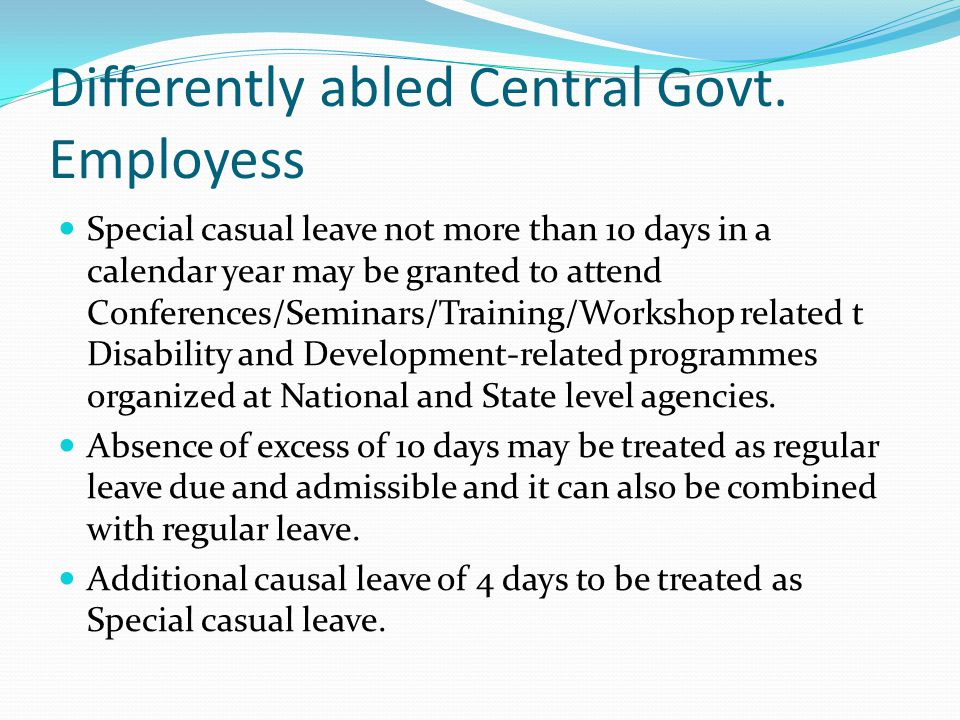 Differently abled Central Govt. Employess