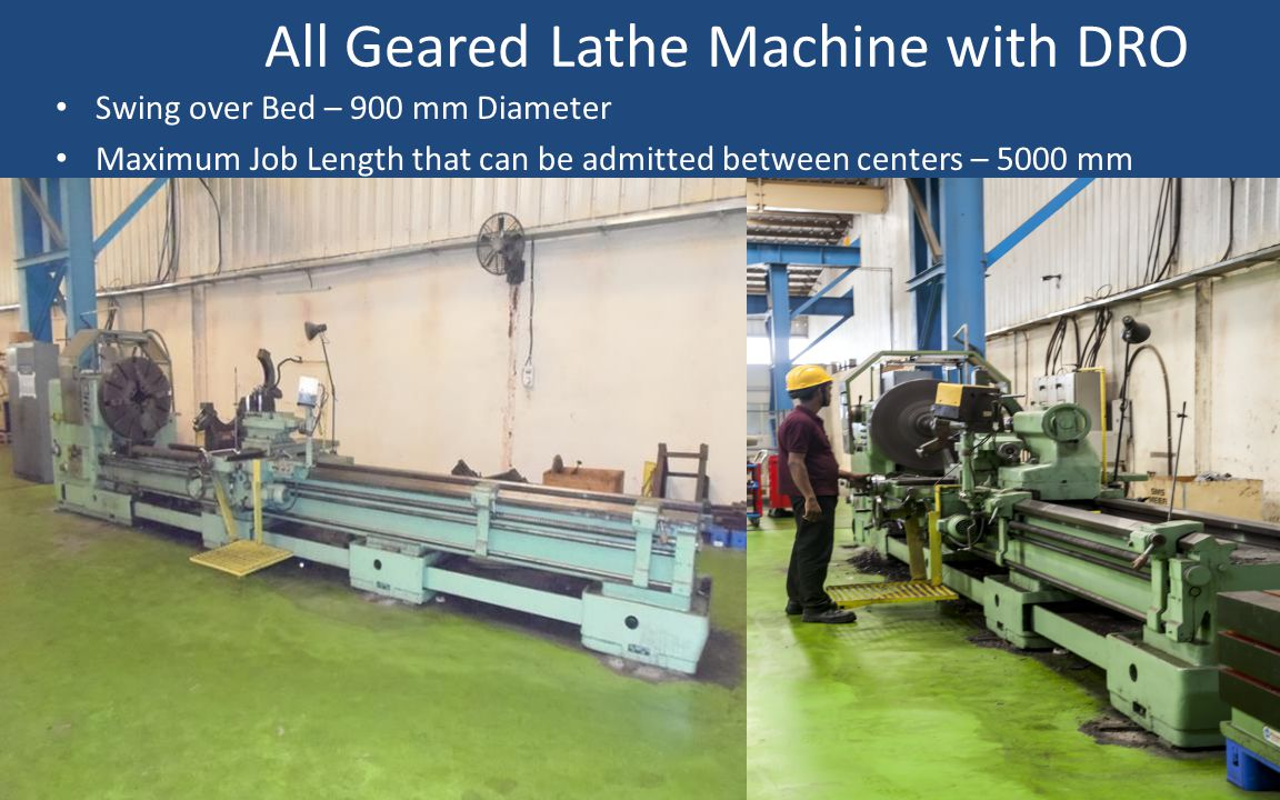 All Geared Lathe Machine with DRO