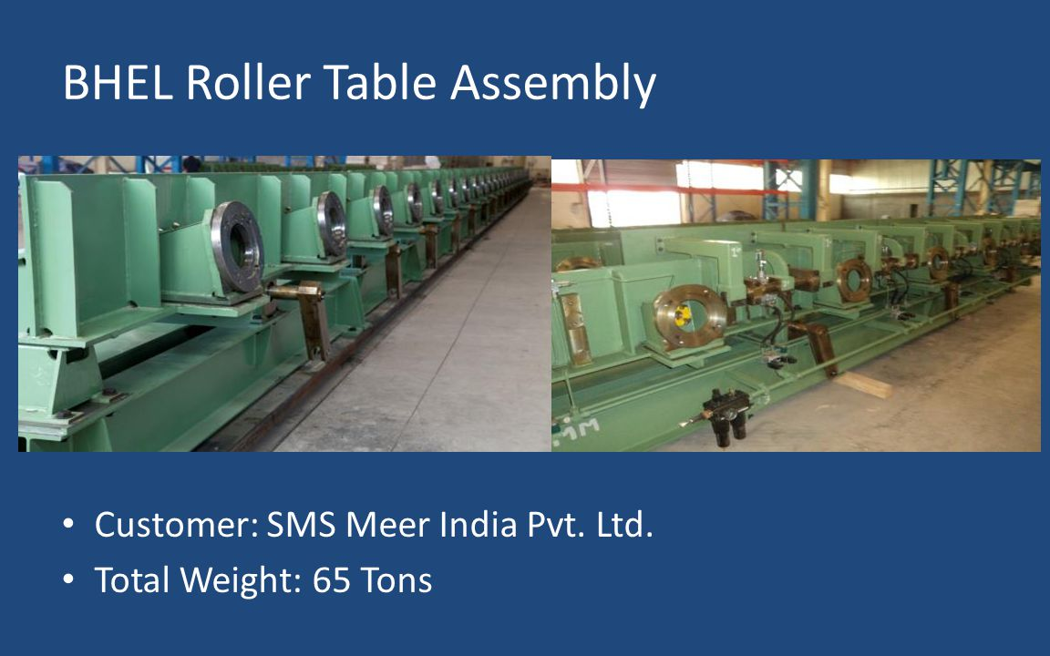 BHEL Roller Table Assembly