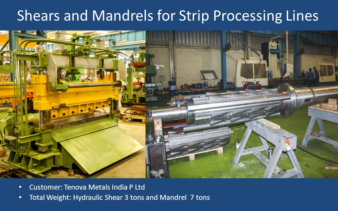 Shears and Mandrels for Strip Processing Lines
