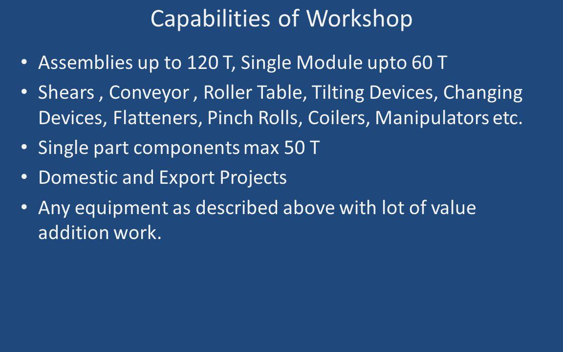 Capabilities of Workshop